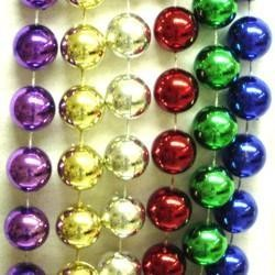 16mm 72in Metallic Assorted Color Beads