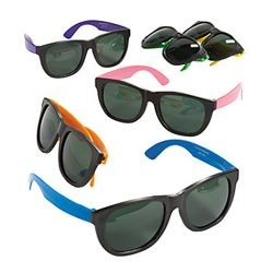 6in Assorted Color Neon Sunglasses