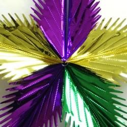Purple, Green, and Gold Leaf Starburst