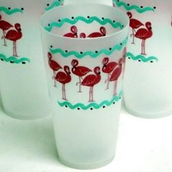 6in 6.20oz Flamingo Plastic Cup