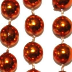 10mm 42in Round Orange Mardi Gras Beads