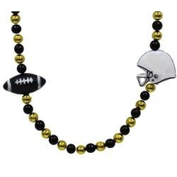 Black and Gold Football Necklace