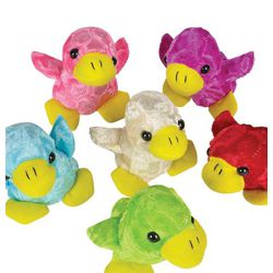 4.5in Assorted Color Chenille Duck Plush