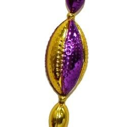 Purple and Gold Football Beads
