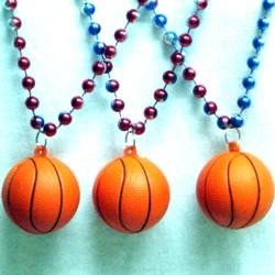 33in Metallic Red/ Blue/ Silver Tricolor Bead w/ Foam Basketball