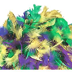 Mardi Gras Feather Hat/Wig/ Boa Hat with Tinsel
