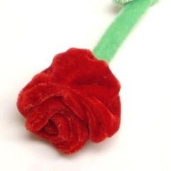 10in Plush Red Roses
