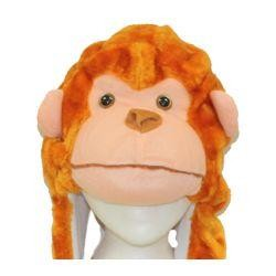 35in Cute Plush Monkey Hat