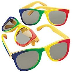 5in Wide Plastic Rainbow Children Glasses/ Sunglasses