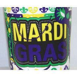16oz Hard Plastic and Reusable Mardi Gras Cups
