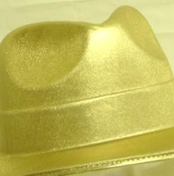 5in Tall Gold Fedora Hat