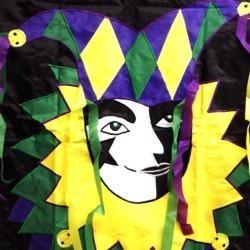 25in x 36in Nylon Mardi Gras Jester Banner