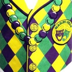 Purple Green Yellow Plastic Vest