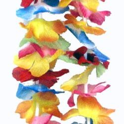 36in Bright Hawaiian Flower Petal Lei