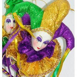 Dolls: Jester Face on Stick