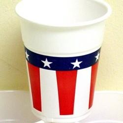 4.75in 16oz Patriotic Plastic Cup 50 pieces per pack