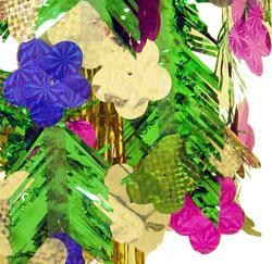 72inx11in Metallic Hawaiian Flower Mobile