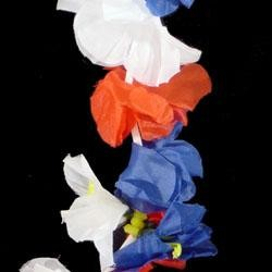 36in Patriotic Simulated Silk Flower Lei