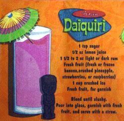 5in x 5in Frozen Daiquiri Beverage Napkins