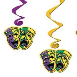 Mardi Gras Hanging Swirl Decoration