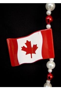 42in Canadian Flag Necklace