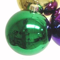 40mm Metallic Purple Green and Gold Ornaments Ball