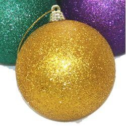 60mm Glittered Purple/Green/Gold Ornaments/ Balls