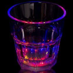 8oz Plastic Light Up Rocks Glass