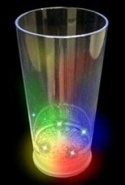 16oz Plastic Light Up Pint Glass