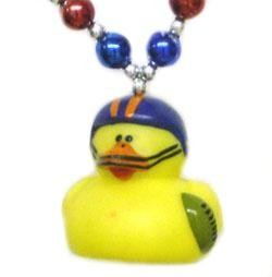 Football Rubber Duck Necklace