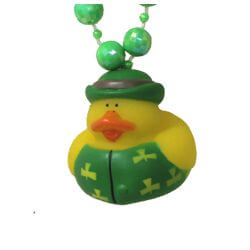 42in St Pats Rubber Duck Necklace