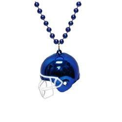 Blue Football Helmet Necklace