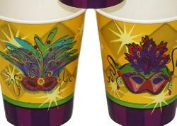 Mardi Gras Mask Paper Cups