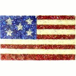 2in x 1.25in USA Flag Glitter Body Jewelry/ Tattoos