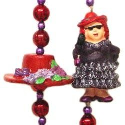 42in Red Hat/ Lady Necklace