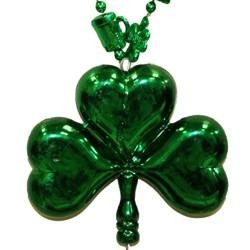 33in Shamrock and Beer Mug Bead w/4in Blow Mold Shamrock/ Clover Medallion