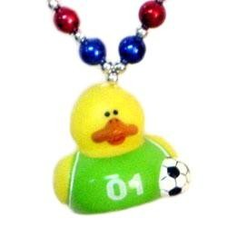 Soccer Rubber Duck Necklace