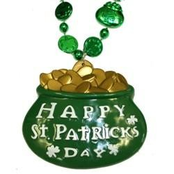 a8ea1b0b1 33in Shamrock and Pot of Gold Bead w/3in Happy St. Patricks Day Medallion