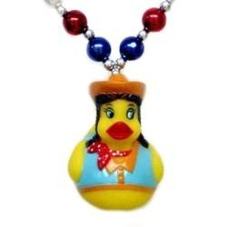 42in Cowgirl Rubber Duck Necklace
