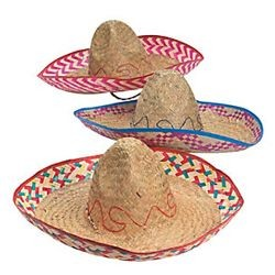 8in Tall Assorted Embroidered Sombrero