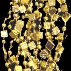 33in Metallic Gold Casino Mix Beads