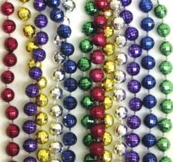 60in 7.5mm Disco Ball Shape Metallic 6 Assorted Color Beads