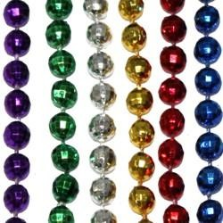 7mm 33in Assorted Metallic Colors Disco Ball Mardi Gras Beads