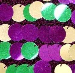 Medium Purple Purse with Purple Green Gold Big Sequin