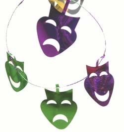 9ft Metallic Purple Green Gold Comedy/ Tragedy Garland
