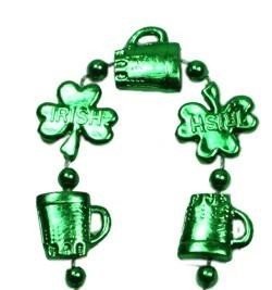 33in Shamrocks and Beer Mug Shaped Beads