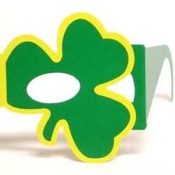 St Patricks Shamrock/ Clover Paper Glasses/ Sunglasses