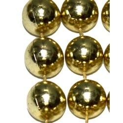 14mm 48in Metallic Gold Beads