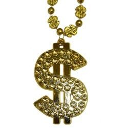 Big Dollar Bill Sign Necklace