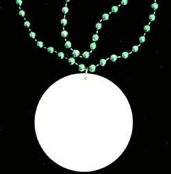 Customizable 3in Medallion Green Necklace